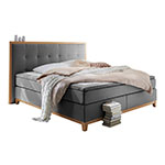 Atlantic Home Collection Grau Boxspringbett